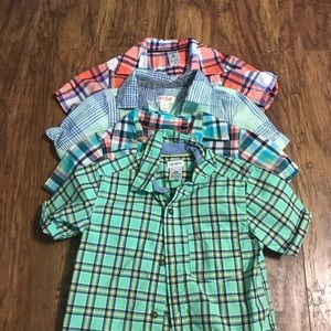 Lot of 4 toddler button up shirts
